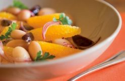 Olive, white bean and orange salad