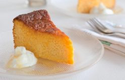 Orange and almond cake with orange syrup