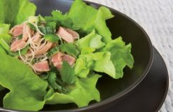 Beef and rice noodle salad