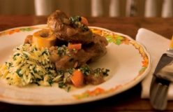 Osso buco with parsley and lemon risoni