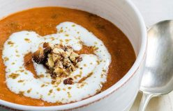 Roasted tomato and cumin soup